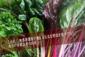 当農園の野菜作りのこだわり 農薬を使わない元気な野菜を作ってます!